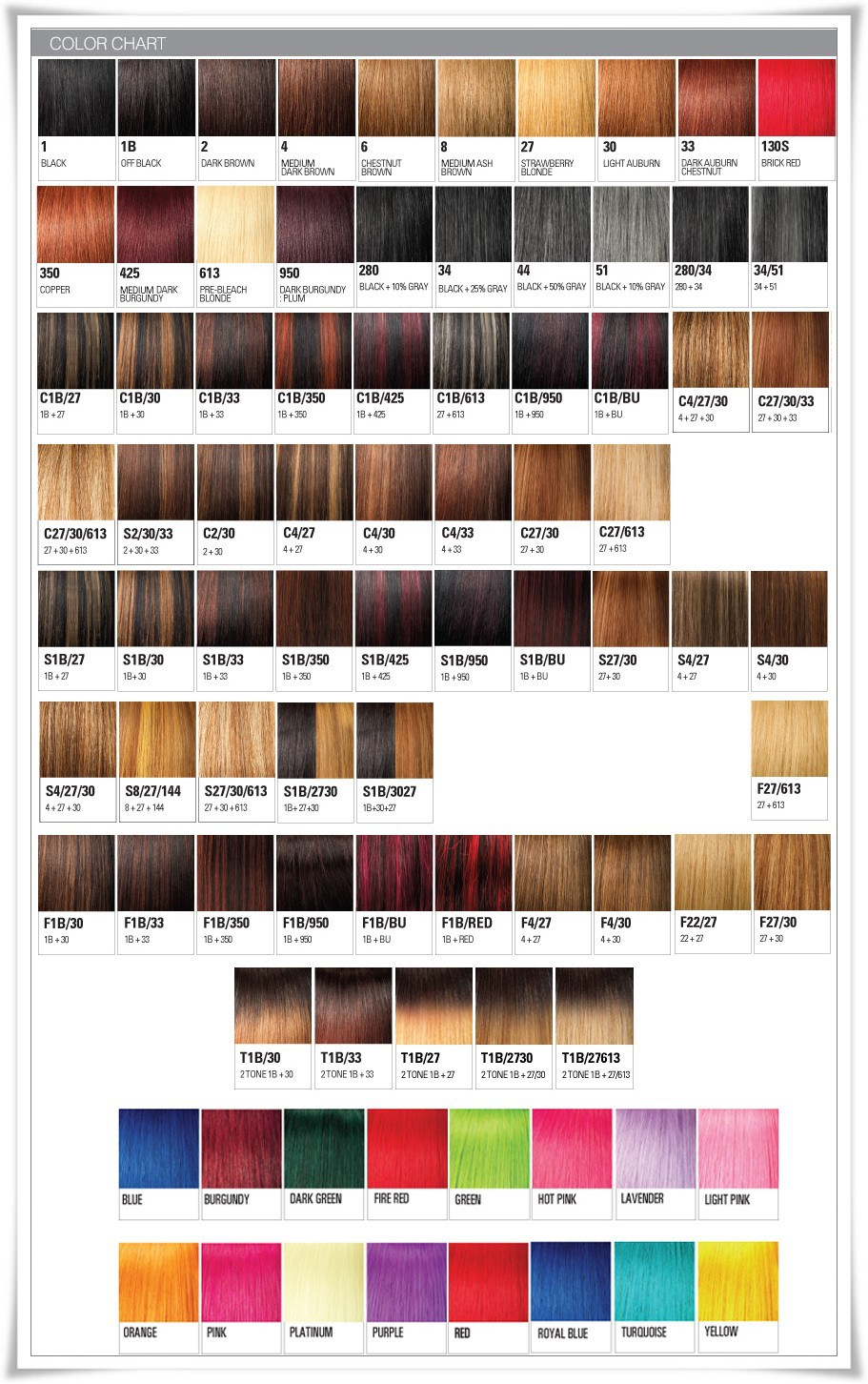 Xpressions braiding hair color chart hairstylegalleriescom of xpressions hair extensions colour chart hair weave nvjuhfo Image collections