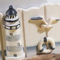 деревянный маяк и рыбы coaster средиземноморском стиле Кубок коврик pad Новинка кружка кофе