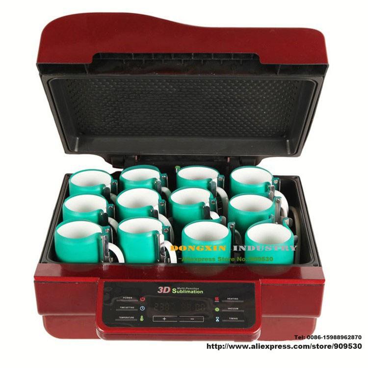 Купить Бесплатная доставка 3D тепла печатная машина DX-048 3D кружка сублимации машина Для Телефонных Случаях Чашку Плиты Плитки Печатная Машина