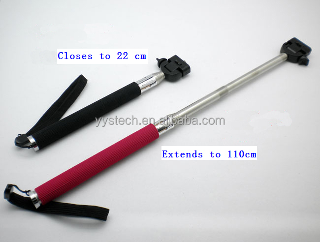 2014 selfie stick extendable handheld selfie stick monopod for ipad on sale. Black Bedroom Furniture Sets. Home Design Ideas