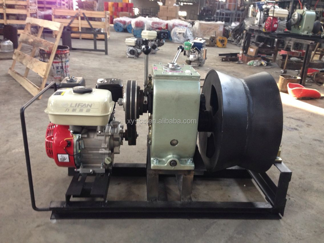 Using In Cable Pulling 3 Ton Gasoline Powered Winch With Big Steel ...