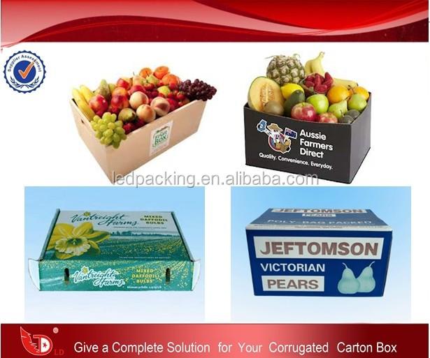 Hot Sale Cardboard Carton Boxes Vegetables Fruits