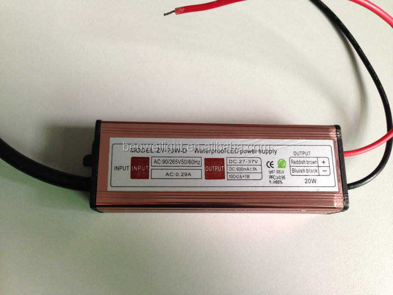 20w ac led driver / waterproof led power supply ip67