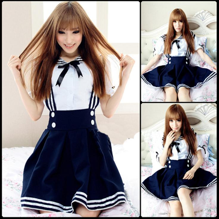 Halloween Sexy Costume Japan Anime Cosplay Dress Bowknot Sexy School