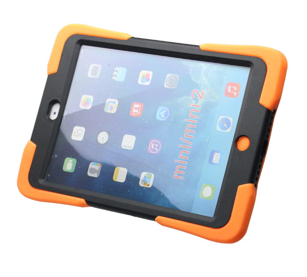 Hot selling robot design pc+silicone Case for ipad mini with holder