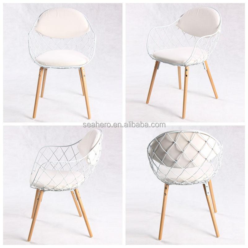 Metalen frame met houten poten stoel metalen stoelen product id 60063168904 - Houten plastic stoel ...