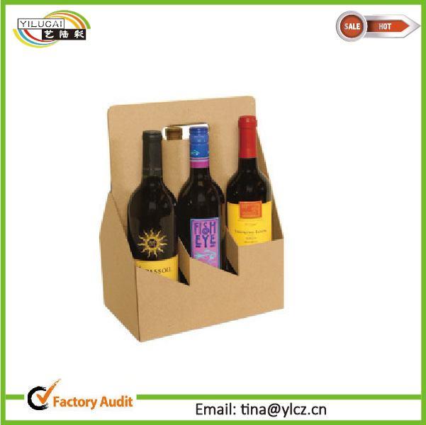 Custom Printed Cardboard 4 Pieces Coffee Cup Drink Carriers