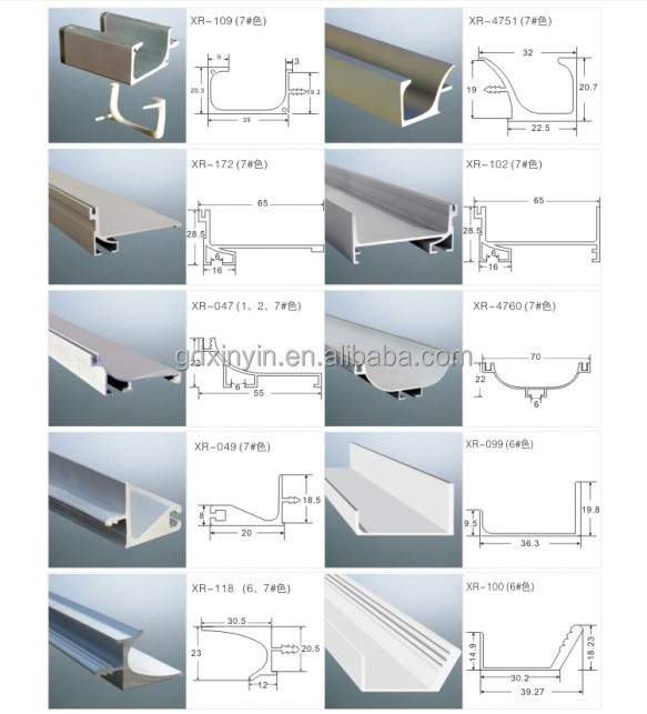 18mm Panel Aluminum Handle Profile For Kitchen Wall