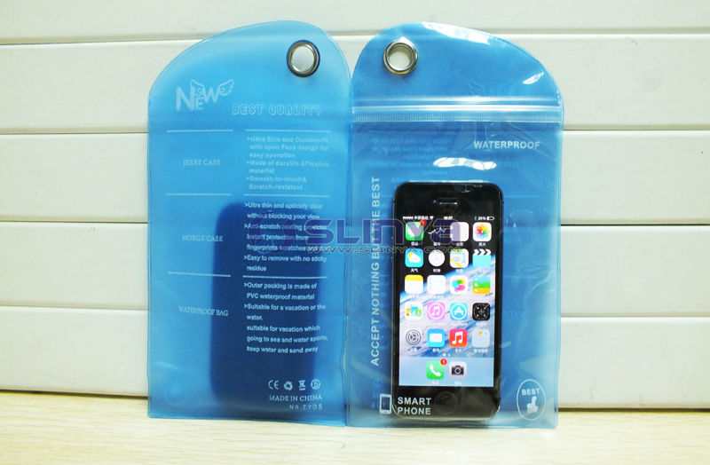 Thickness 0.4mm Phone Waterproof Bag for iPhone Galaxy Note