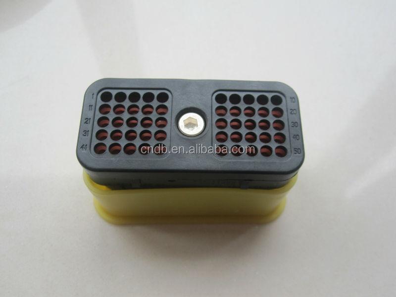 Original TE/Deutsch auto Connector DRC series 50way/50pin/50pole DRC26-50S01 with yellow cap