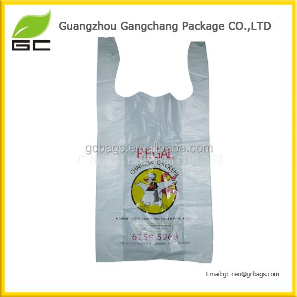 OEM price Machine made high quality biodegradable plastic vest t-shirt bag cheap price