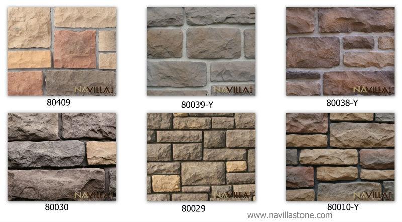 muro de piedra de revestimiento de chapa-Piedras artificiales ...