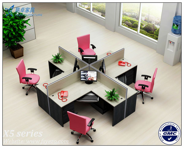 Wholesale 6 seats wooden office cubicles partitions with for Cubiculos de oficina