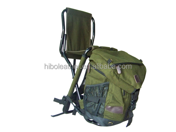 Fishing durable nylon and melton folding backpack fishing for Fishing backpack chair