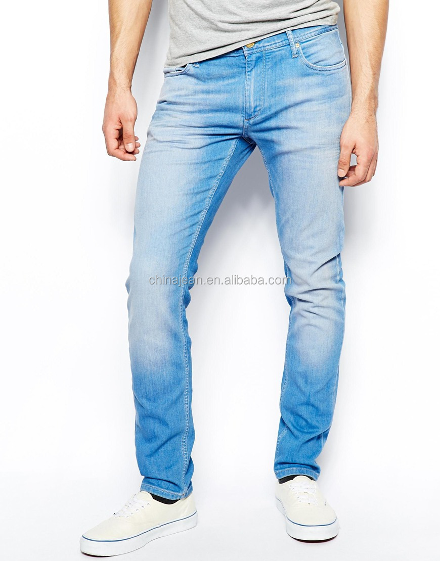2015 Oem Comfortable Blue Slim Wash New Style Fashion Men Jeans (jxw504) - Buy Oem Slim Man ...