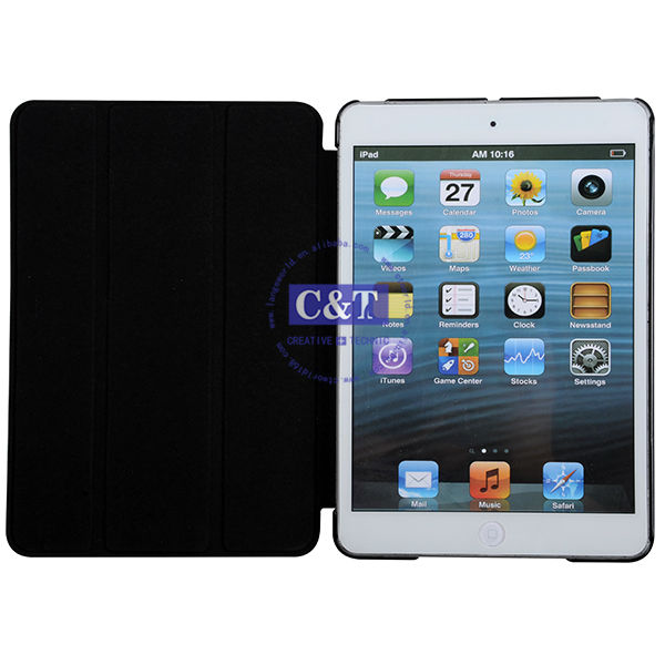 C&T For ipad mini leather case,leather case for ipad mini