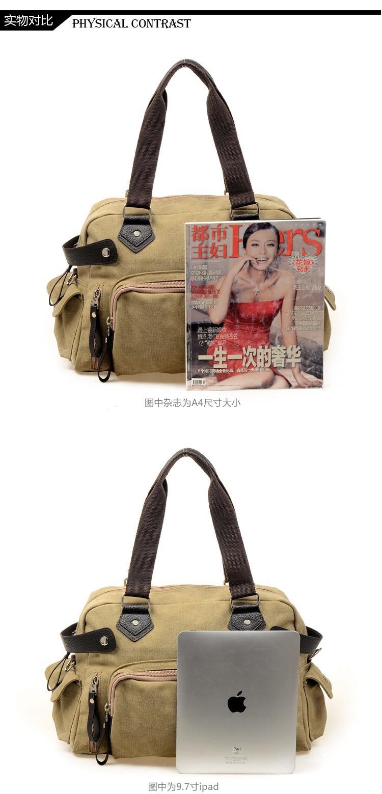 Women's Vintage Casual Canvas Bag Leisure Handbag Shoulder Tote