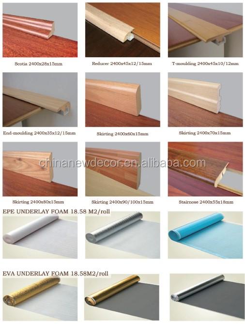 Venda quente de alta densidade fiberboard 12mm alto brilho - Suelo laminado autoadhesivo ...
