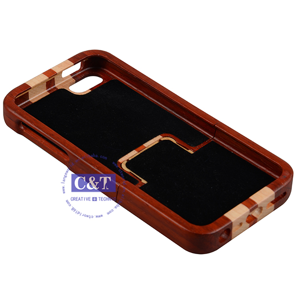 C&T bamboo Case for iphone 5