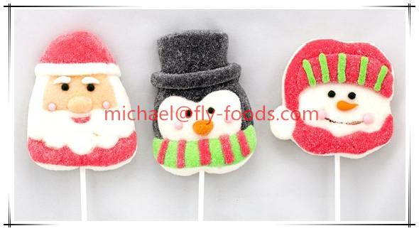 Christmas series marshmallow lollipop