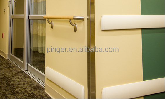 Pvc Wall Handrails : Handrail view hospital wall protection pinger product