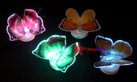 ограниченный chinadeal 7 цвет меняется волоконно оптические светодиодные бабочка партии света многоразовые