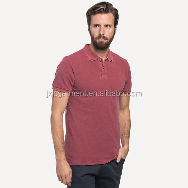 Wholesale Mens Yarn Dyed Camisetas Collar T Shirts New