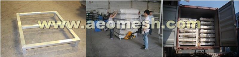 AEOMESH Black Aluminum Fence For Show