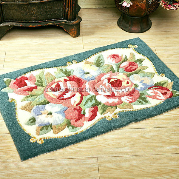 Non Woven Carpets Floral Print Carpet,non Woven