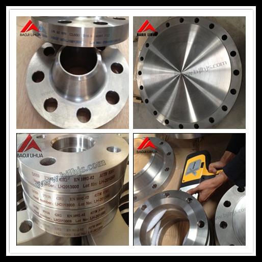 GR2 ANSI B16.5 or ASTM B381 Titanium pipe flanges for high pressure