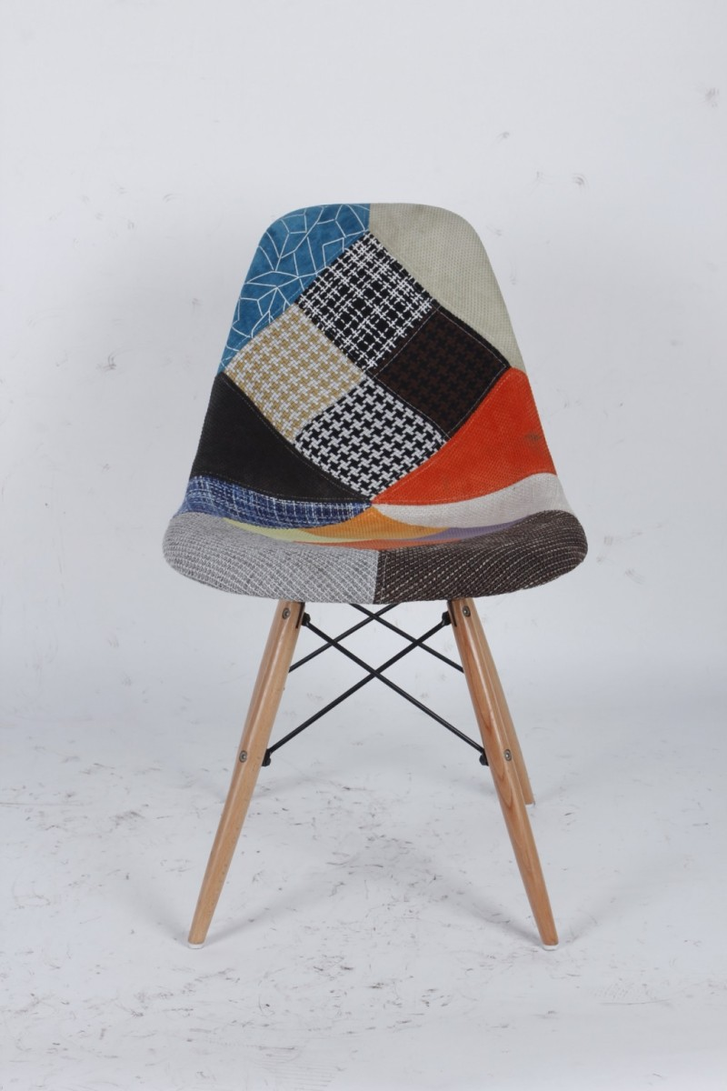 Nouvelle conception patchwork loisirs chaise en bois pas cher chaise patchwor - Imitation eames pas cher ...