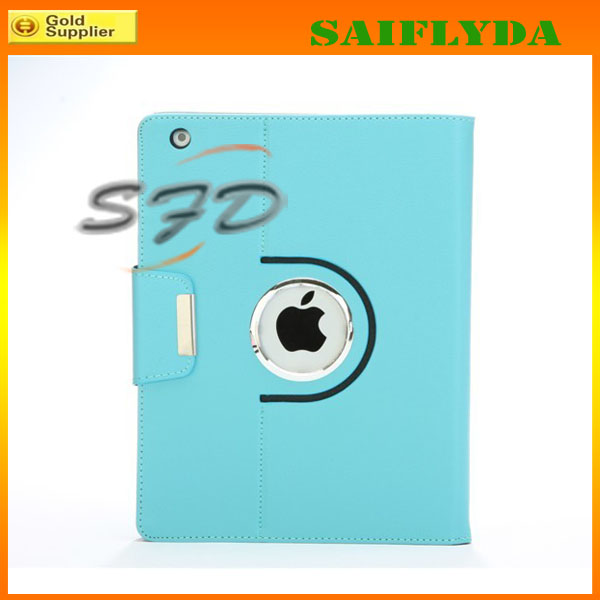 2014 new models pu leather 360 rotation leather case for ipad air