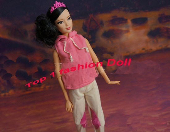 2014 low cost New arrival wholesales 50items material(gown) with retail bag for 1/6 bjd Doll Vogue Garments Swimsuit For barbie doll