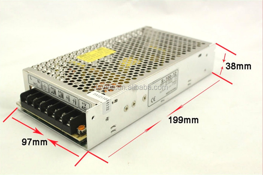 100W 24VDC led power supply switching mode power supply