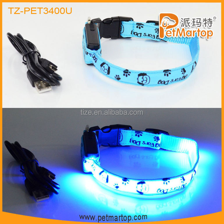 Hot LED USB Rechargeable Dog collar PET3100U Led Det Collar