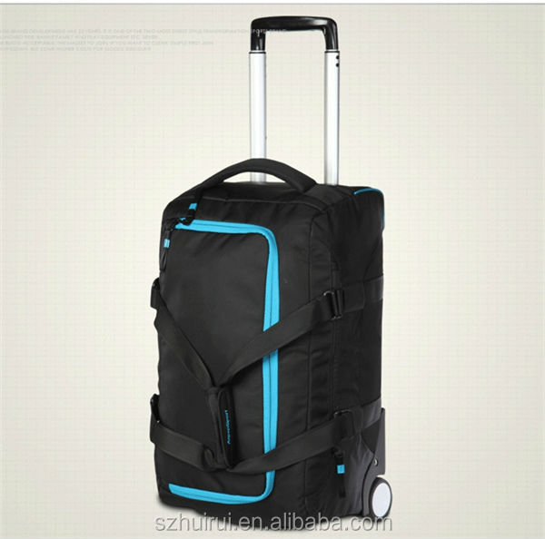 new style fashion multifunction sport trolley travel bag on wheels