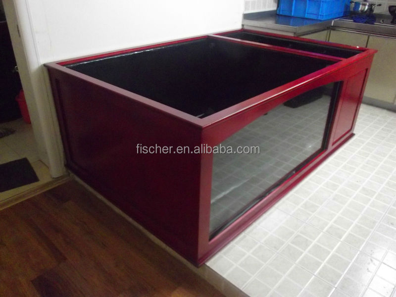 2014 New Design Aquarium Wooden Decorative Fiberglass Koi Fish Tank With Viewing Window And