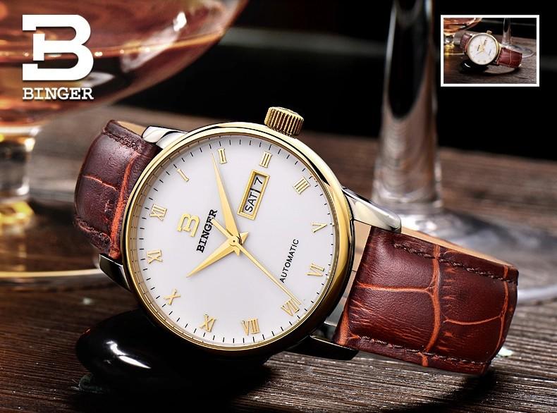 Мода черный циферблат наручные часы полный нержавеющей стали Автоматические часы Швейцария марка широкий Сапфировое окно часы для человека