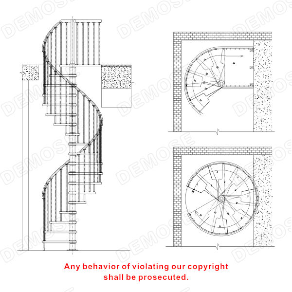 Used spiral staircase modern spiral staircase buy used Spiral stair details