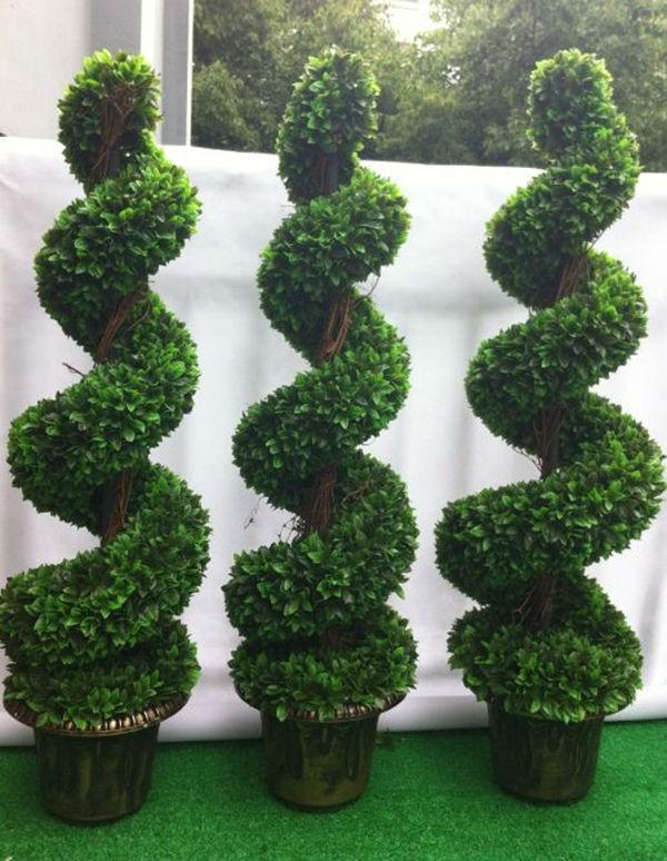 Grand bonsa artificielle buis d 39 arbre spirale arbres for Bonsai artificiel grande taille