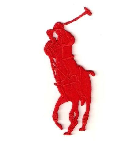 Красная рубашка поло железа на одежде вышивка патчи патчи diy Аксессуары