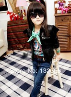 Куртка для девочек BC032 Autumn New Fashion girl Faux Leather jacket Angel Wings children PU Coat 2 colors kid outerwear Retail