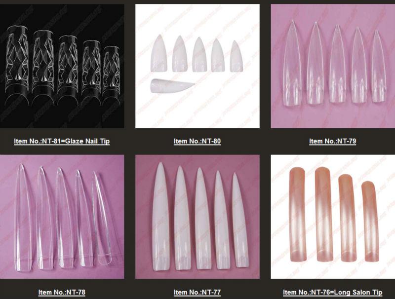 New Arrivals Salon Diy Natural Acrylic Nail TipsFull Cover False