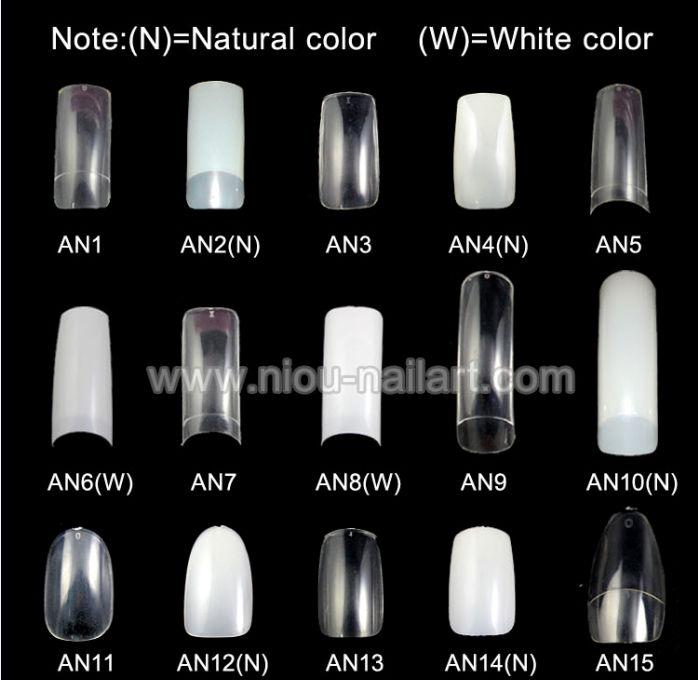 Flared White Tip Nails 500pcs White Duck Flare Nail