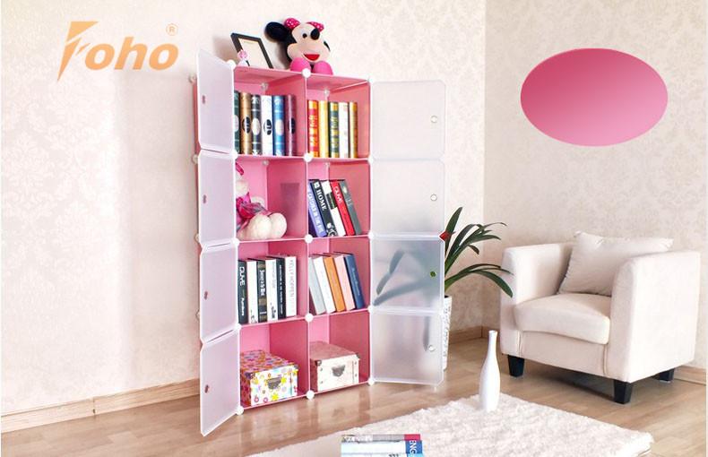Diy Portable Bookshelves With Door Fh-al0030-8 - Buy Bookcase ...