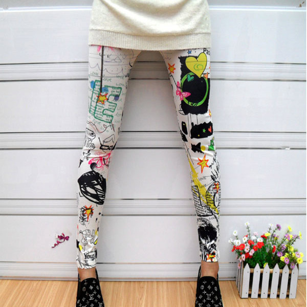 Sunflower Stripes Star Print Leggings