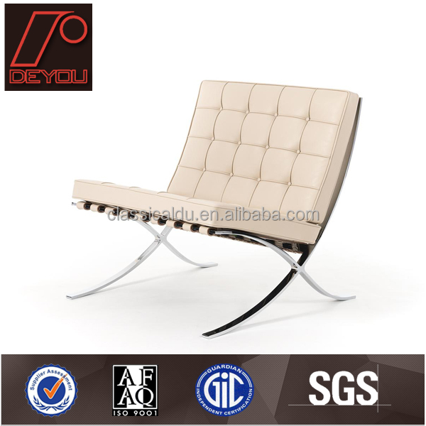 white leather barcelona chair & ottoman chair chaise lounge chairs V