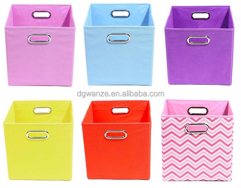 cube de rangement en tissu pliables bo tes caisses de. Black Bedroom Furniture Sets. Home Design Ideas