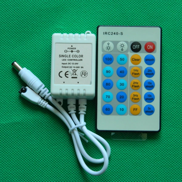 IR 24key led strip controller/dimmer for single color