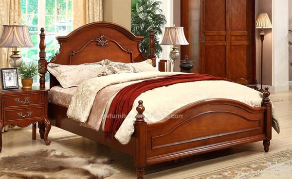Wholesale with hand carving skill antique bedroom for Classic beds for sale